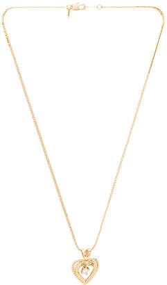 Vanessa Mooney Nora Heart & Crystal Charm Necklace