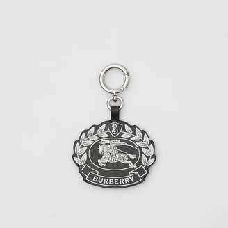 b4d7a533de4 Burberry Crest Print Leather Key Charm