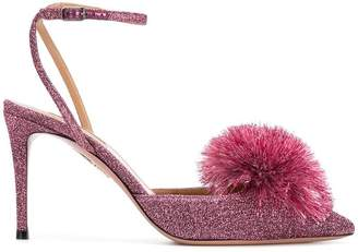 Aquazzura pointed pompom sandals