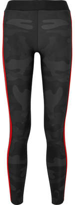 Ultracor - Knockout Appliquéd Camouflage-print Stretch Leggings - Gray