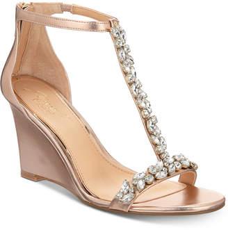Badgley Mischka Meryl Wedge Evening Sandals Women Shoes