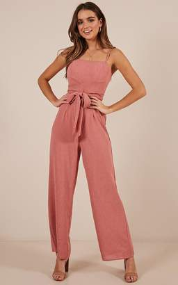Showpo Thing Called Love jumpsuit in rose - 10 (M) Playsuits &