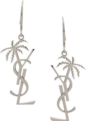 a01dc6cc175 Saint Laurent monogram and palm tree pendant earring