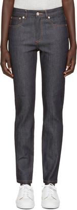 A.P.C. Indigo High Standard Jeans $195 thestylecure.com