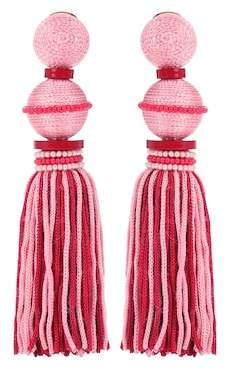 Oscar de la Renta Exclusive to mytheresa.com – Ball Tassel silk earrings