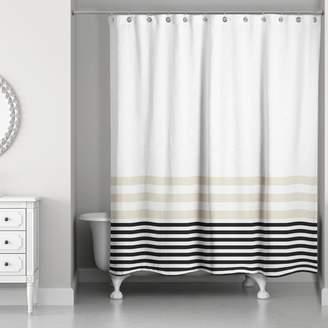 Longshore Tides Qu Stripes Shower Curtain