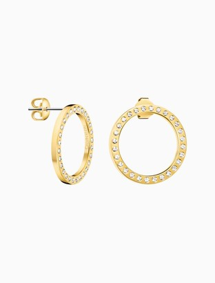 Calvin Klein hook gold earrings