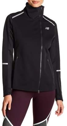 New Balance Asymmetrical Zip Funnel Neck Jacket