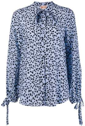 No.21 printed stars blouse