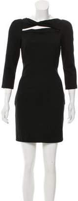 Diane von Furstenberg Slashed Arita Wool Dress