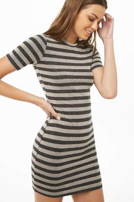 Forever 21 Ribbed Knit Striped Bodycon Dress