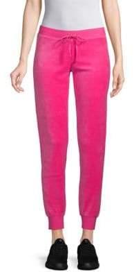 Drawstring Velour Pants