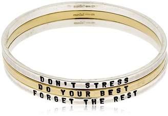 Don't Stress Set Of 3 Bangle Bracelets