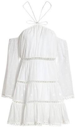 Zimmermann Cold-Shoulder Polka-Dot Cotton-Gauze Mini Dress