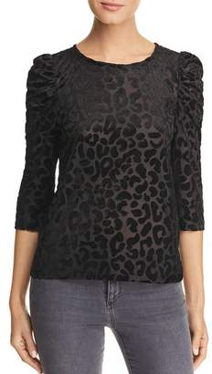 Vero Moda Cosa Leopard Burnout Velvet Top
