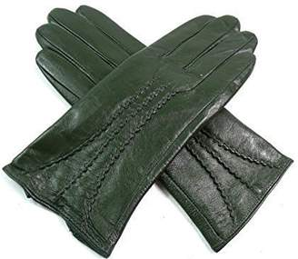 EMPORIUM LEATHER The Leather Emporium Women's Gloves Fur Lined Stripe Detail Slim Fit