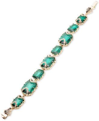 Jenny Packham Gold-Tone Pave & Stone Flex Bracelet