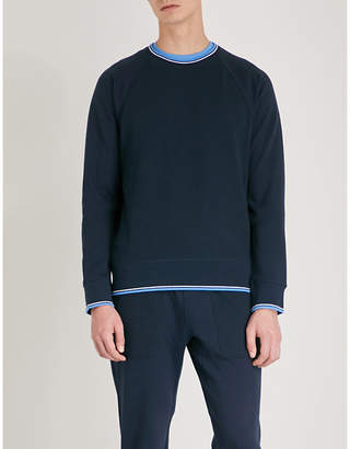 Michael Kors Striped-trim cotton-blend sweatshirt