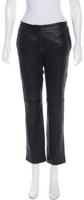 True Royal Leather Mid-Rise Pants