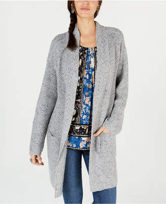 Style&Co. Style & Co Mixed-Stitch Tweed Duster Cardigan