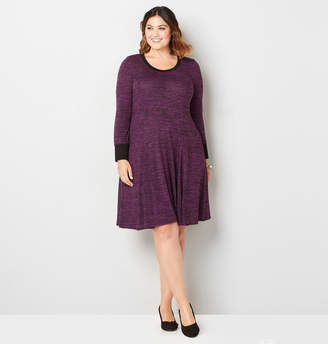 Avenue Spacedye Hacci Fit and Flare Dress
