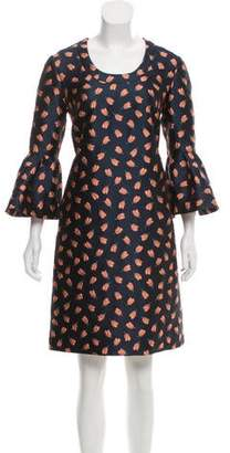 Lela Rose Jacquard Knee-Length Dress