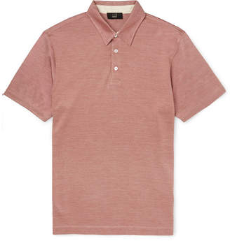 Dunhill Slim-Fit Cotton and Silk-Blend Polo Shirt