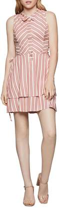 BCBGeneration Striped Lace Fit-&-Flare Dress
