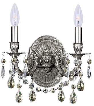 Crystorama Mirabella Ornate Casted Hang 2-Light Candle-Style Chandelier