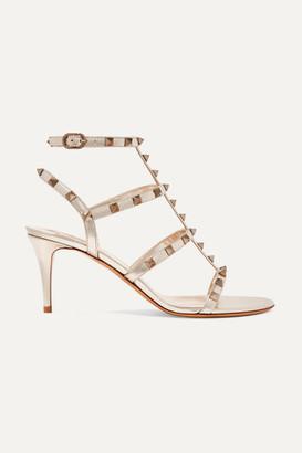 Valentino Garavani The Rockstud 70 Leather Sandals - Gold