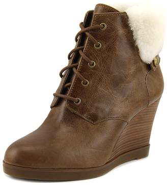 MICHAEL Michael Kors Carrigan Wedge Knit Cuff Lace Up Ankle Boots, Dark Khaki, 10 US / 41 EU