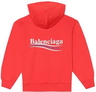 Balenciaga Kids Cotton-blend hoodie