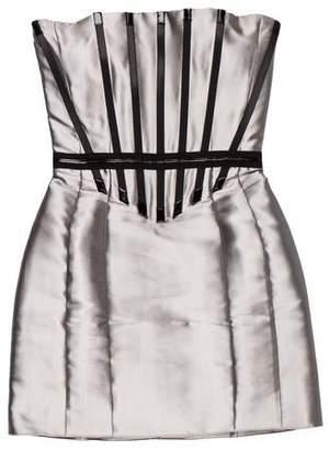 Celine Silk Strapless Mini Dress