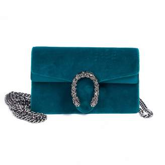 Gucci Dionysus Blue Velvet Handbags
