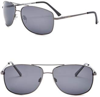 Steve Madden Polarized 63mm Navigator Sunglasses