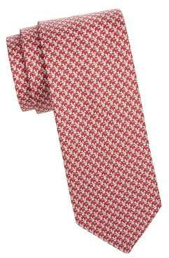 Salvatore Ferragamo Squirrel Print Silk Tie