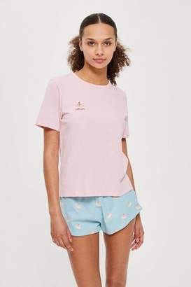 Topshop Cutie Pie Embroidered Pyjama Set