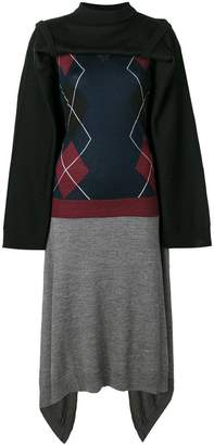 Y/Project Y / Project panelled knit dress