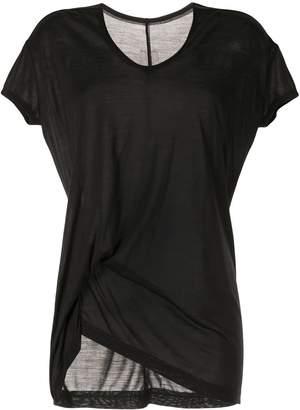 Rick Owens asymmetric short-sleeve T-shirt