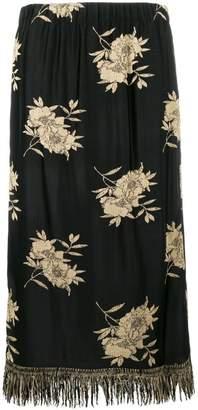 Etro floral-print midi skirt