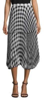 Reese Pleated Plaid Skirt