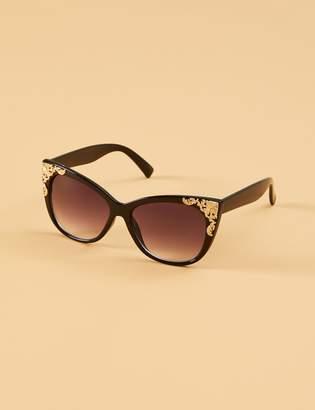 Lane Bryant Filigree Cateye Sunglasses