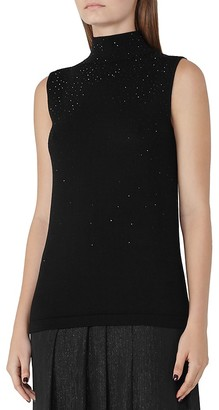 REISS Faith Sparkle-Knit Sleeveless Sweater $195 thestylecure.com
