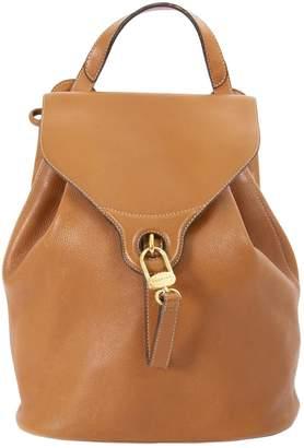 Delvaux Camel Leather Backpacks