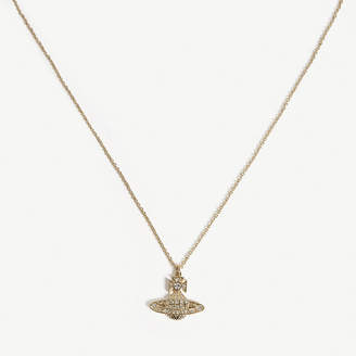 Vivienne Westwood Crystal and Gold Orb Design Minnie Pendant Necklace