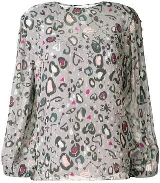 Lily & Lionel doodle leopard print Livia blouse
