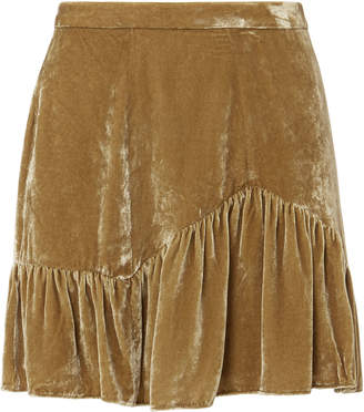 LoveShackFancy Eliza Velvet Mini Skirt