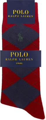 Polo Ralph Lauren Pony cotton-blend socks pack of three $42 thestylecure.com