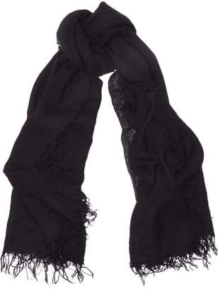 Chan Luu Cashmere And Silk-blend Scarf - Black