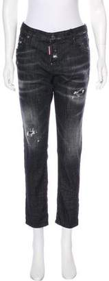 DSQUARED2 Mid-Rise Straight-Leg Jeans w/ Tags